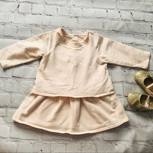 Chloe Designer Baby Girl Pink & Gold Dress